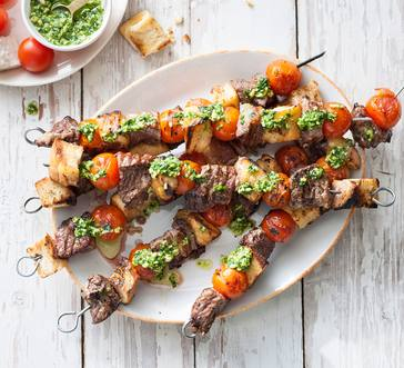 Grilled Beef and Tomato Skewers image