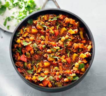 Cajun Butternut Squash and Lentil Stew image