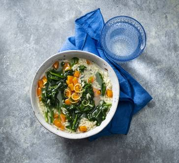 Orzo Soup with Greens image