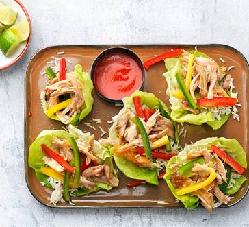 Sweet-and-Sour Chicken Lettuce Wraps image