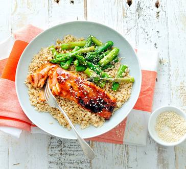 Teriyaki Salmon Rice Bowl image