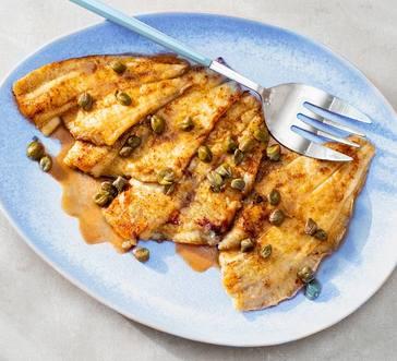 Flounder Piccata image