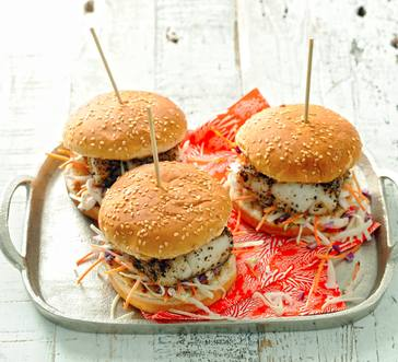 Fish Fillet Sandwiches with Slaw image