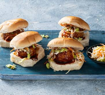 Barbecue Meatball Sliders image