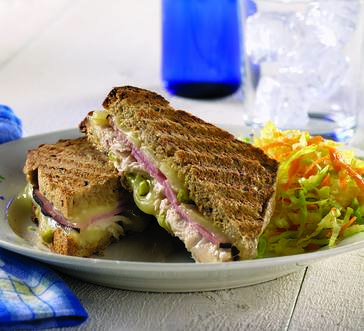 Cuban-Style Grilled Cheese Sandwiches image