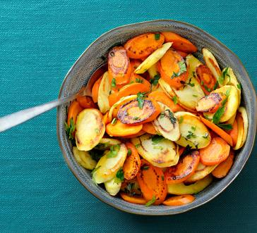Herb Roasted Parsnips and Carrots image