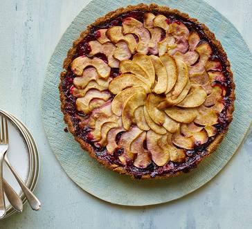 Apple-Berry Tart with Cinnamon-Walnut Crust image