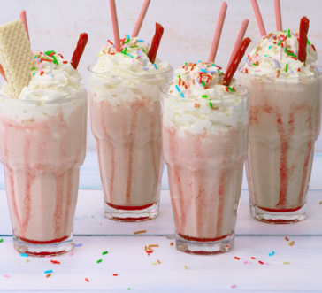 Over-the-top Strawberry Milkshakes image