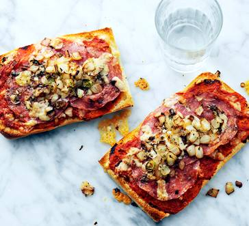 Ciabatta Pizzas with Salami image