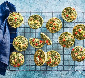 Spinach and Pepper Omelet Muffins image
