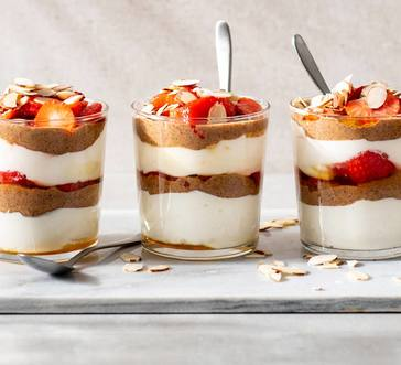 Yogurt Parfaits with Strawberries and Almonds image