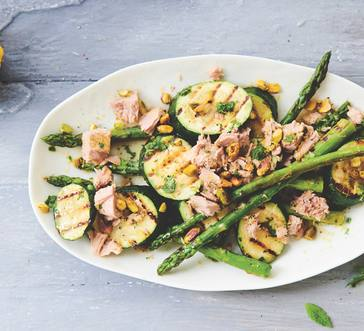 Zucchini and Asparagus Salad with Tuna image