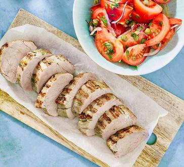 Grilled Pork Tenderloin with Tomato Salad image