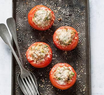 Sriracha Tuna Stuffed Tomatoes image