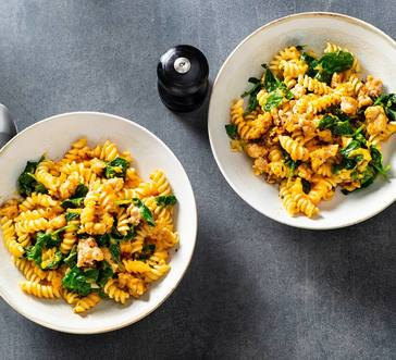 Fusilli with Butternut Squash and Sausage image