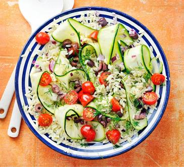 Orzo Salad with Zucchini and Tomatoes image