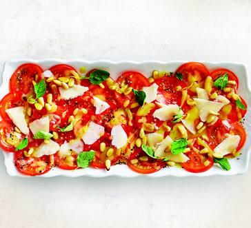 Tomato Salad with Pine Nuts and Pecorino image