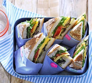 Grilled-Veggie Picnic Sandwich image