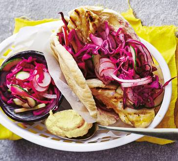 Pita with Chicken and Cabbage image