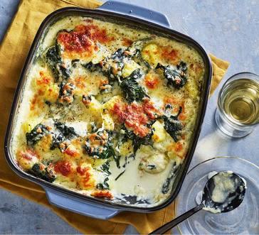 Creamed Spinach Gnocchi Bake image