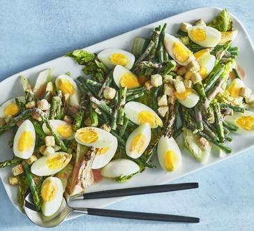Asparagus and Green Bean Salad with Eggs image
