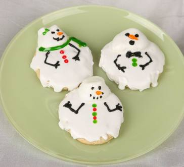 melted snowman sugar cookies image