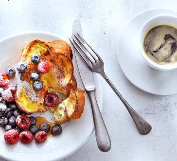 Cream Cheese–Stuffed French Toast with Berries image