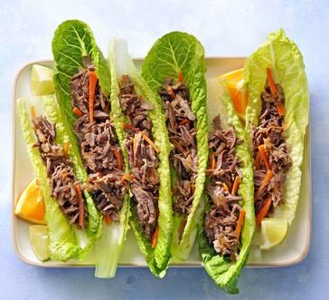 Citrus Beef Lettuce Cups image