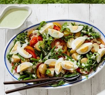 Salad with Green Beans and Potatoes image