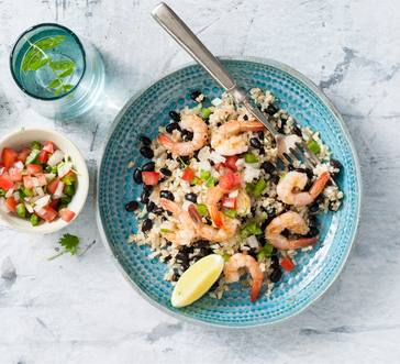 Cauliflower Rice and Beans with Shrimp image