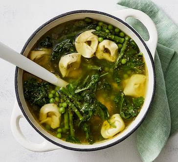 Spring Veggie Soup with Tortellini image
