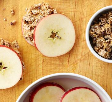 Peanut Butter n Granola Apple Sandwiches image