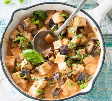 Thai Red Curry Eggplant and Tofu image