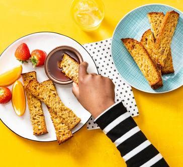 Freezer-Friendly Baked French Toast Sticks image