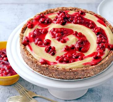 Paleo Cranberry Cheesecake image