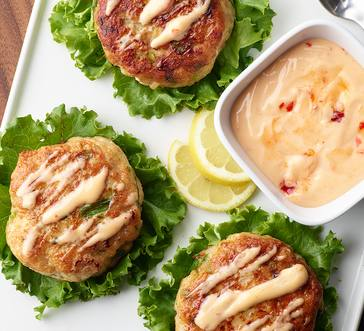 Shrimp and Fish Cakes with Spicy Mayo image