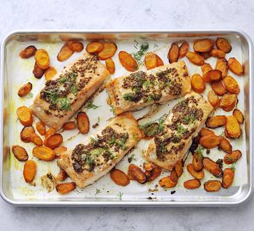 Sheet Pan Mustard-Maple Salmon image