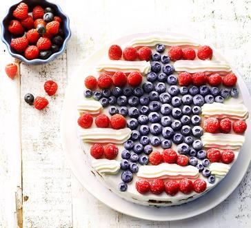 Stars and Stripes Frozen Yogurt Cake image
