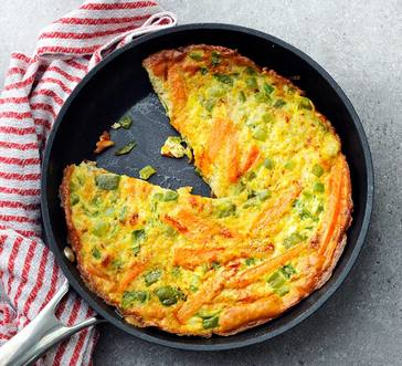Sweet Potato Frittata with Peppers and Onions image