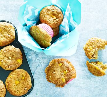 Peach-Walnut Muffins image
