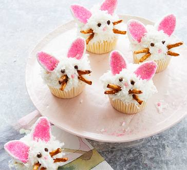 Pineapple-Coconut Bunny Cupcakes image