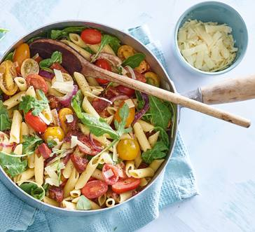 Pasta Salad with Chorizo and Tomatoes image