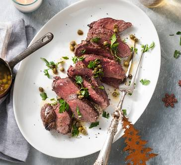 Steak with Caper Butter image
