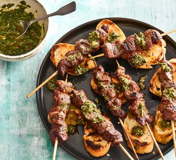 Argentinian Beef Kabobs with Chimichurri image