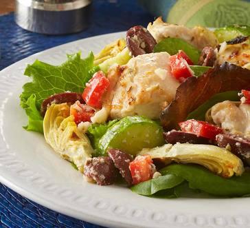 Roasted Artichoke and Chicken Tender Greek Salad image
