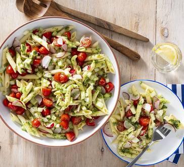 Gluten-Free Pasta Salad with Herb Vinaigrette image