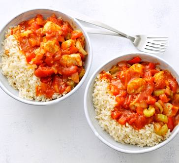Cajun Chicken over Rice image