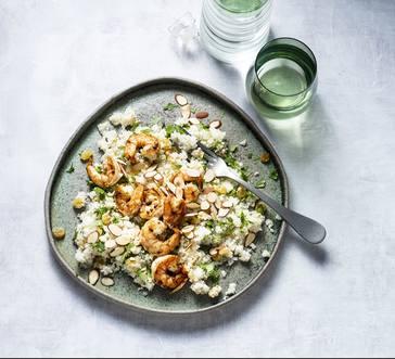 Spiced Shrimp over Cauliflower Couscous image