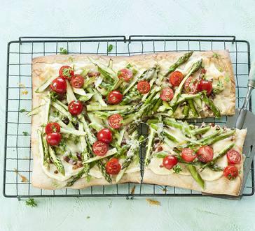Asparagus, Bacon and Tomato Tart image