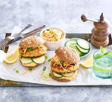 Salmon Burgers with Spicy Mayo image